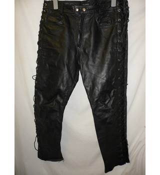 "Tscul  - 36"" -leather m/c trousers"