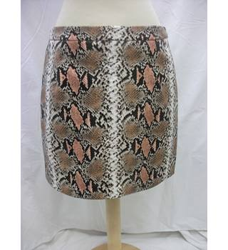 NEW River Island Skirt - Size: 12 - Beige