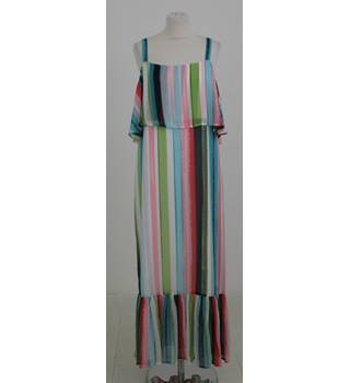 NWOT M&S Size:14 rainbow striped long dress