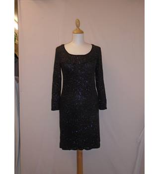 Sparkling black dress knee length Unbranded - Size: 10 - Black - Evening dress
