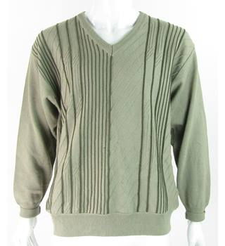 Franco Ponti - Size: L - Green Mix - Merino Wool Mix - Jumper