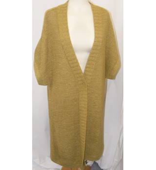 Wallis - Size: M/L Mustard Knitted coat/cardigan