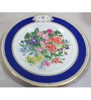 Blue Charles/Diana wedding plate with blue china