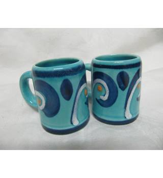 Two Tiny Mugs Blue
