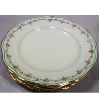 Regency 5 small dinner plates British Anchor