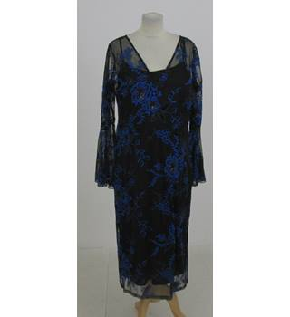 NWOT M&S Collection Size: 16 - Blue embroidered dress