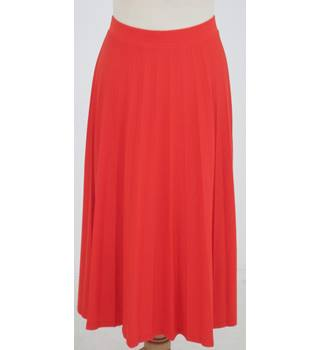 NWOT: M&S Collection: Size 12: Bright orange sun ray pleated skirt