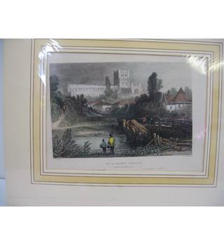 Brand new Original Copper Plate Print of St. Alban's Abbey, Hertfordshire