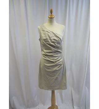Warehouse - Size: 14 - Beige - Knee length dress