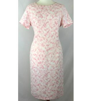 "Viyella - Size: 12 (40"" bust) - 2-tone Pink and White - Ladies' Knee-length Dress"