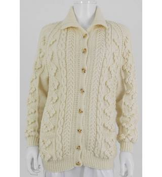 Unbranded Size S Cream Chunky Knit Cardigan