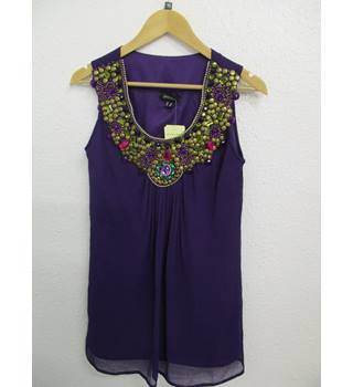 BNWT Pomodoro Purple Beaded Tunic - Size: 10