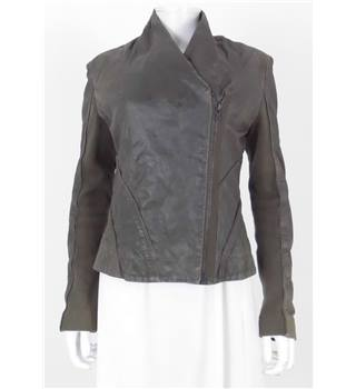 All Saints - size 12 -  brown leather effect jacket
