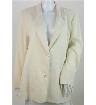 Travelling Light - Size: 12 - Cream -  Silk Blazer