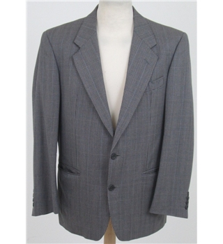 Vintage Daks, size 42S grey fine wool check jacket