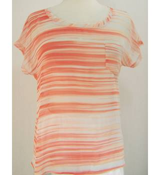 M & S Autograph - Size: 12 - Orange Mix - Sheer top