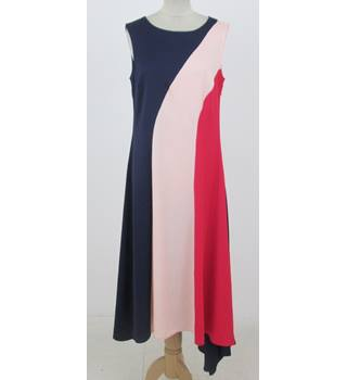 NWOT: M&S Limited Edition Size 8 Regular: Pink & blue asymmetric maxi dress