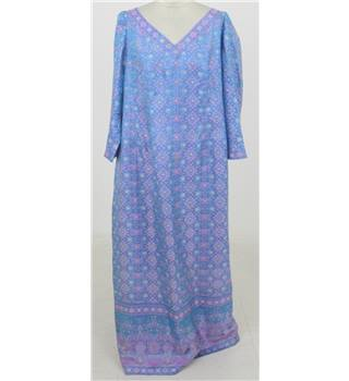 Vintage 1990's Donald Campbell, size XL blue patterned kaftan