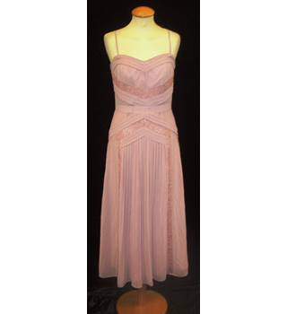 BNWT ASOS Size 10  Mauve calf length Evening dress with optional spaghetti straps