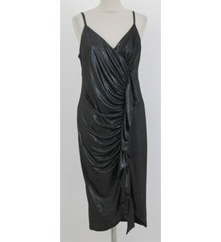 NWOT M&S Size:8 grey shimmering evening dress