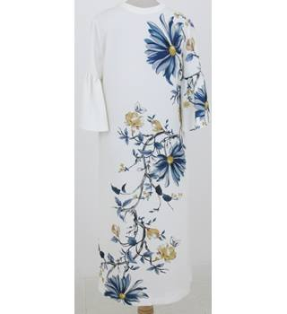 NWOT: M&S Size 10 Regular:  Ivory floral mix maxi dress