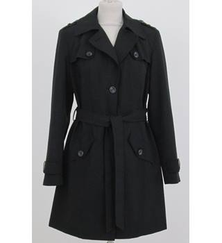 NWOT M&S Size:12 black raincoat