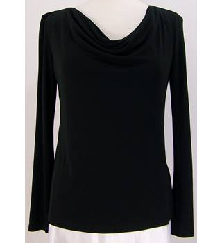 M&S Marks & Spencer - Size: 10 - Black - Drape front top