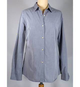 "Barbour - Size: 10 - 38"" bust - Grey - Ladies' Long-sleeved Shirt"