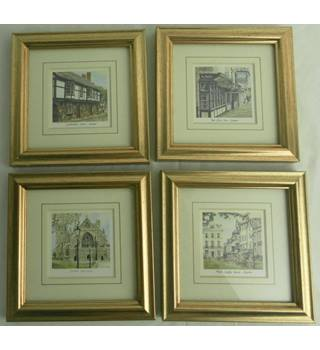 Four Small Framed Prints of Exeter