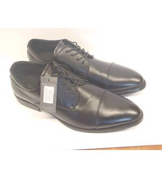NWOT M&S Collection, size 11 black leather Oxford lace ups