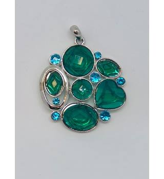 Green, Blue & Silver Coloured Pendant