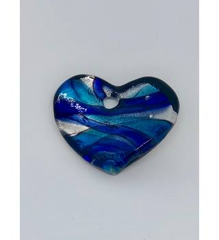 Blue & Silver Coloured Heart Pendant