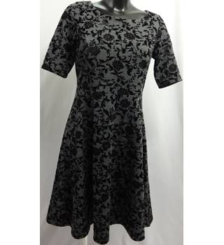 Lands End - Size: S - Grey - Knee Length dress