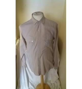 Reiss - Beige - Brush Cotton - Shirt - Size S Reiss - Size: S - Beige - Long sleeved