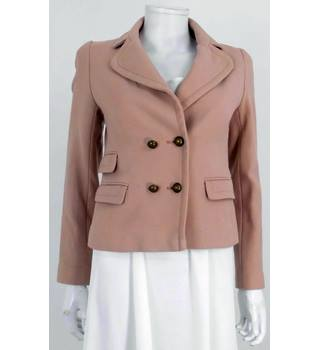 Whistles Size 8 Nude Wool Jacket