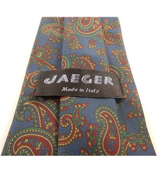 Jaeger One Size Navy Blue and Red Retro Tie