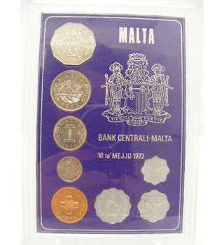 Commemorative Display Set of Maltese Coins 1972