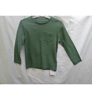 Boys M&S Brand New Green Long Sleeved T Shirt M&S Marks & Spencer - Green