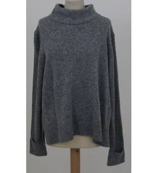 NWOT M&S Collection - Size: 24 - Grey mix - Turtleneck lambswool mix Jumper