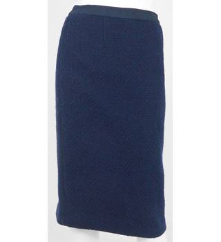 Boden Navy Wool Straight Knee-Length Skirt UK Size 10L
