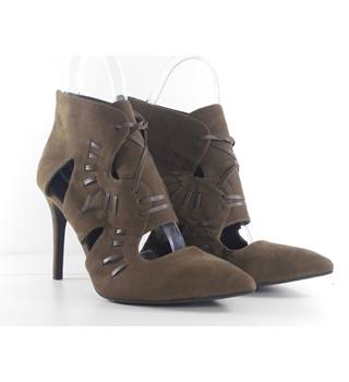 M&S Marks & Spencer Size: 7.5  Brown Suede Stiletto Ankle Boots