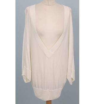 Dolce & Gabbana - Size: One size: regular - White - Deep V neck Batwing top