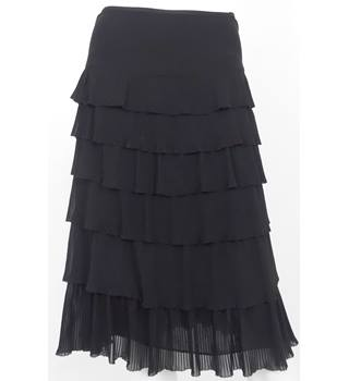 JAEGER Black Knee-Length Skirt NO Size but Waistband Measures 29""