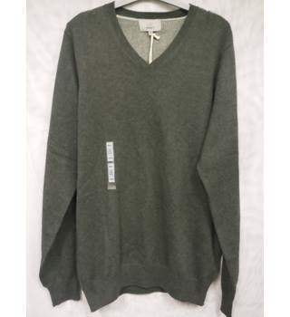 M&S Collection Pure Cotton Sweater Size Small M&S Marks & Spencer - Size: S - Grey - Sweater