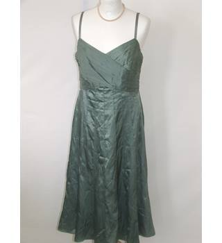 Monsoon Mid-Length Metallic Olive Evening Dress Monsoon - Size: 12 - Green - Evening