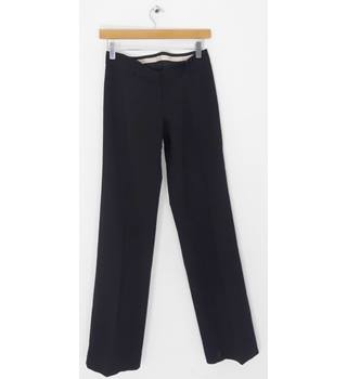 Whistles Black Wool Straight Leg Trousers UK Size 8 / Euro Size 36