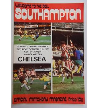 Southampton v Chelsea. 11th October 1975