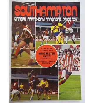 Southampton v Manchester United. 5th April 1975