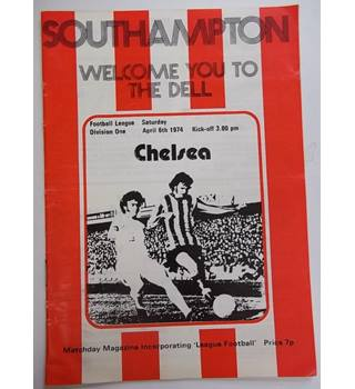 Southampton v Chelsea. 6th April 1974