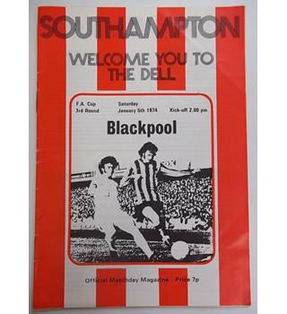 Southampton v Blackpool. 5th January 1974